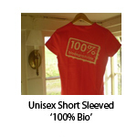 Unisex Short Sleeved '100% Bio'