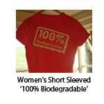 Women's Short Sleeved '100% Biodegradable'