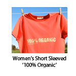 Women's Short Sleeved '100% Organic'