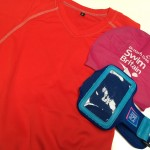Sports t-shirt, swim cap and iphone holder